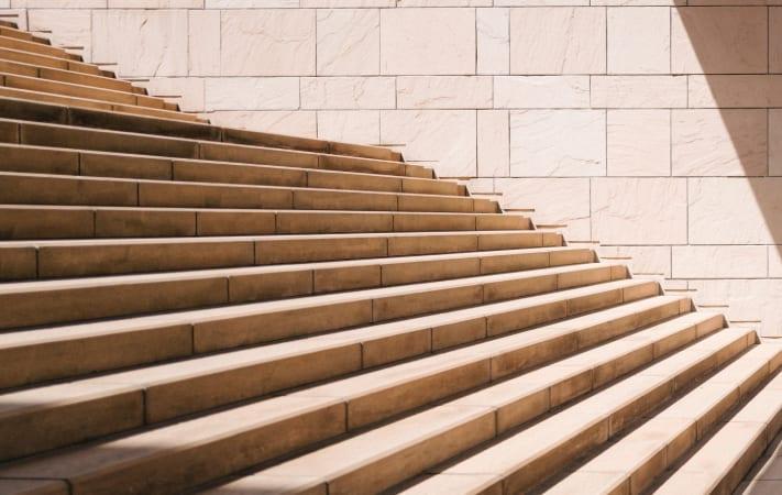Stairs representing upscaling